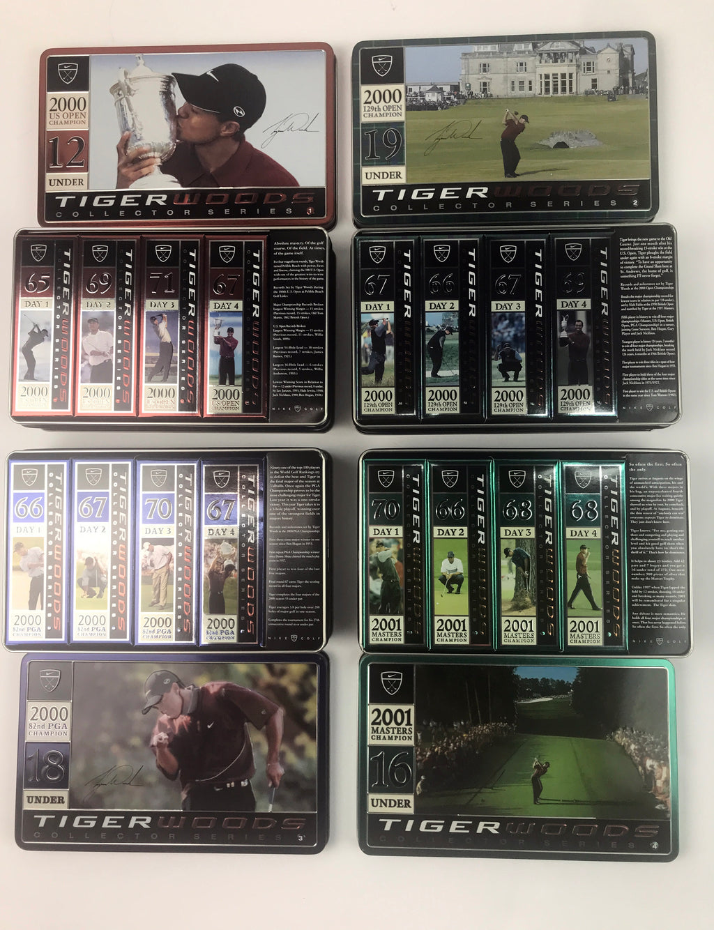 Nike Collector Tiger Tins - Tiger Slam 4 Dozen Golf Balls 1st Edition