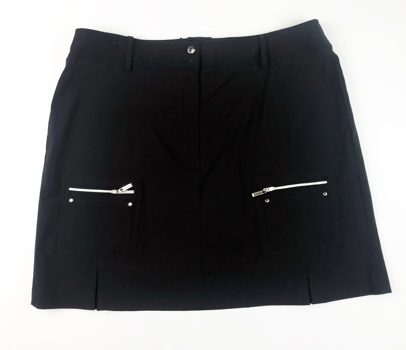 Jamie Sadock - Black with Silver Trims Skort Jet/Ebony 11309
