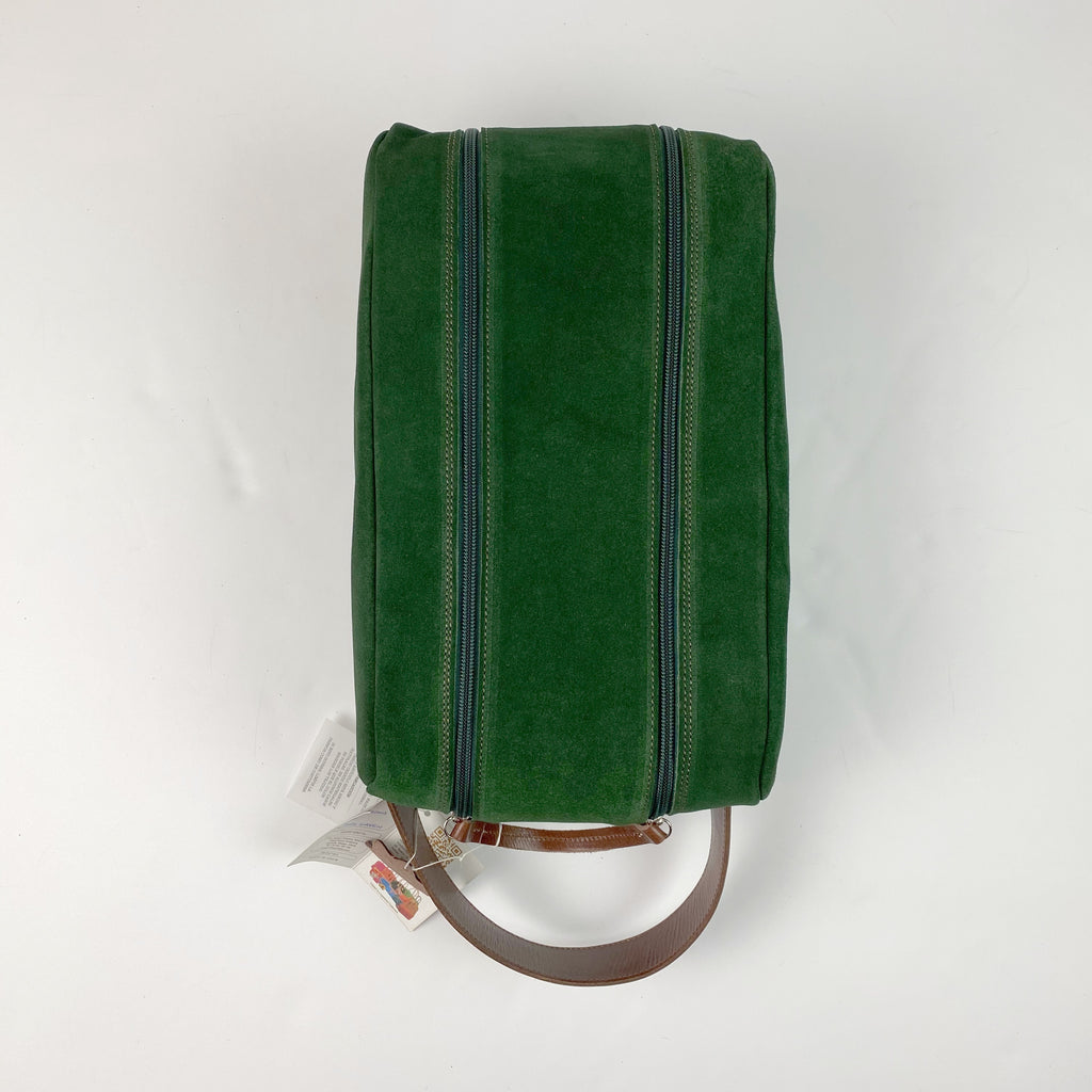 Barcelona Suede Shoe Bag - Peanuts and Golf in Dark Green
