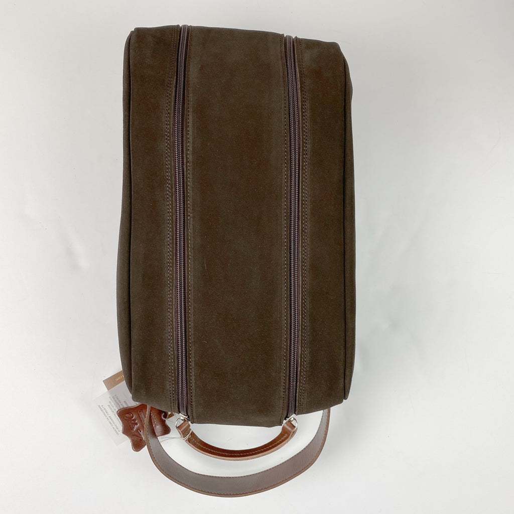 Barcelona Suede Shoe Bag - Peanuts and Golf in Brown