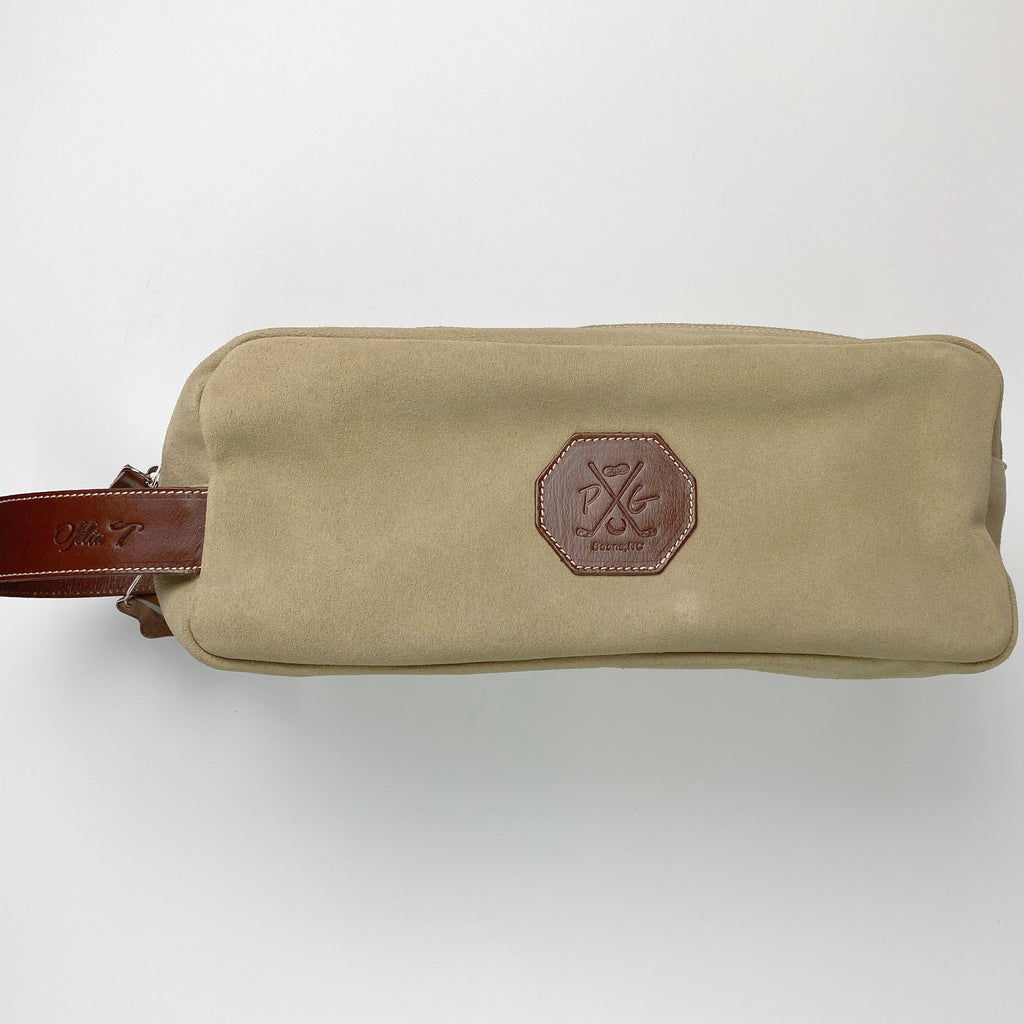 Barcelona Suede Shoe Bag - Peanuts and Golf in Natural