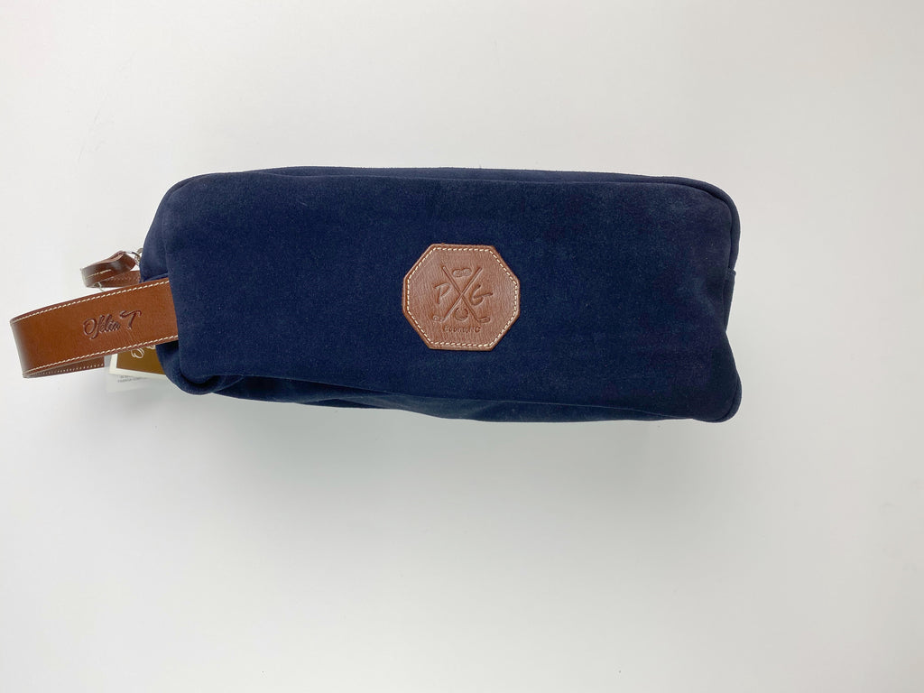 Barcelona Suede Shoe Bag - Peanuts and Golf in Navy Blue