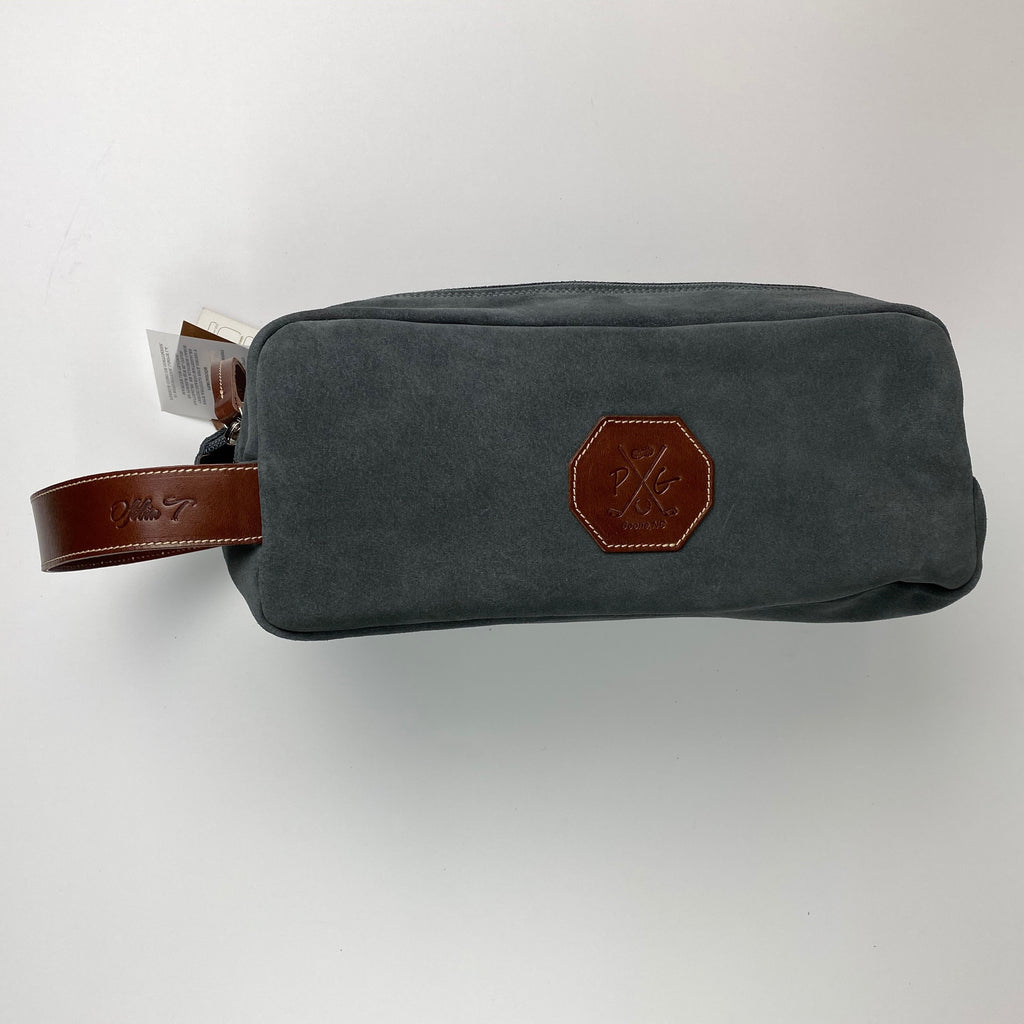 Barcelona Suede Shoe Bag - Peanuts and Golf in Grey