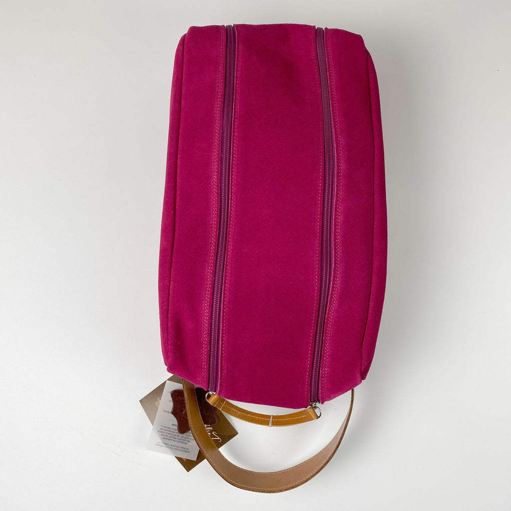 Barcelona Suede Shoe Bag - Peanuts and Golf in Fuchsia