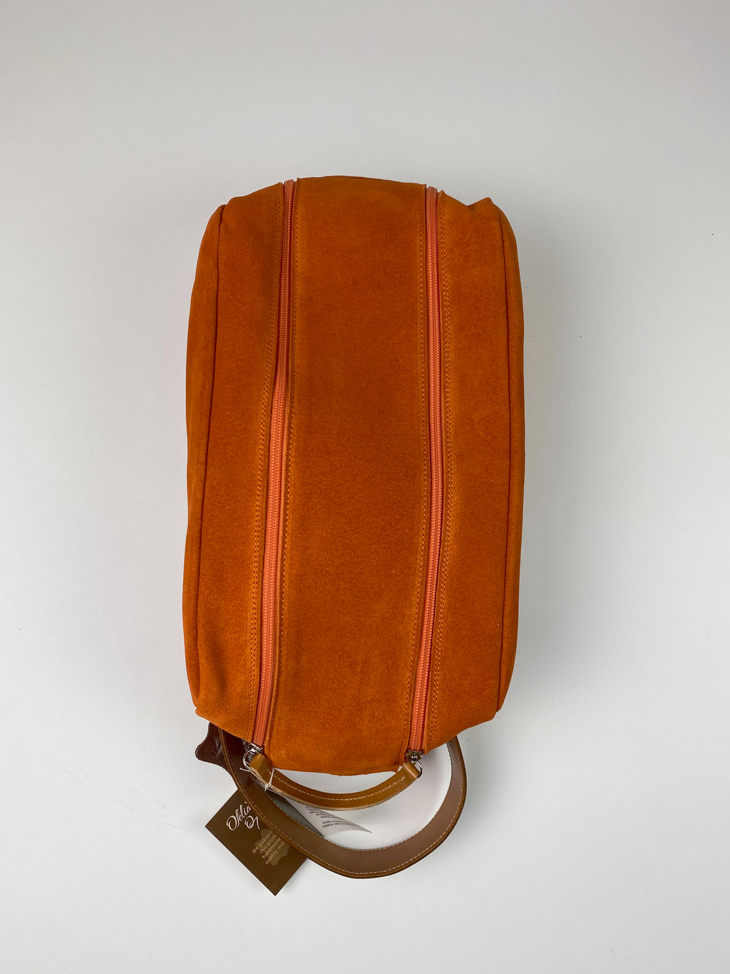 Barcelona Suede Shoe Bag - Peanuts and Golf in Orange