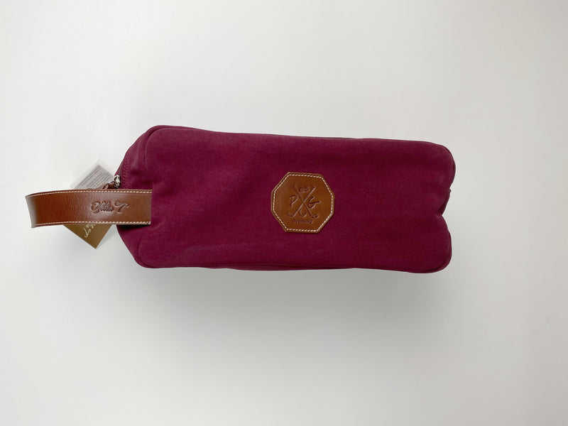 Barcelona Suede Shoe Bag - Peanuts and Golf in Bordeaux