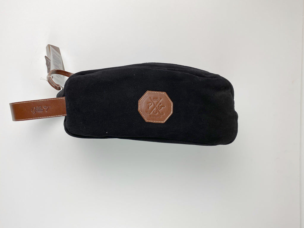 Barcelona Suede Shoe Bag - Peanuts and Golf in Black