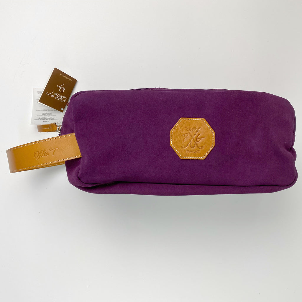 Barcelona Suede Shoe Bag - Peanuts and Golf in Purple