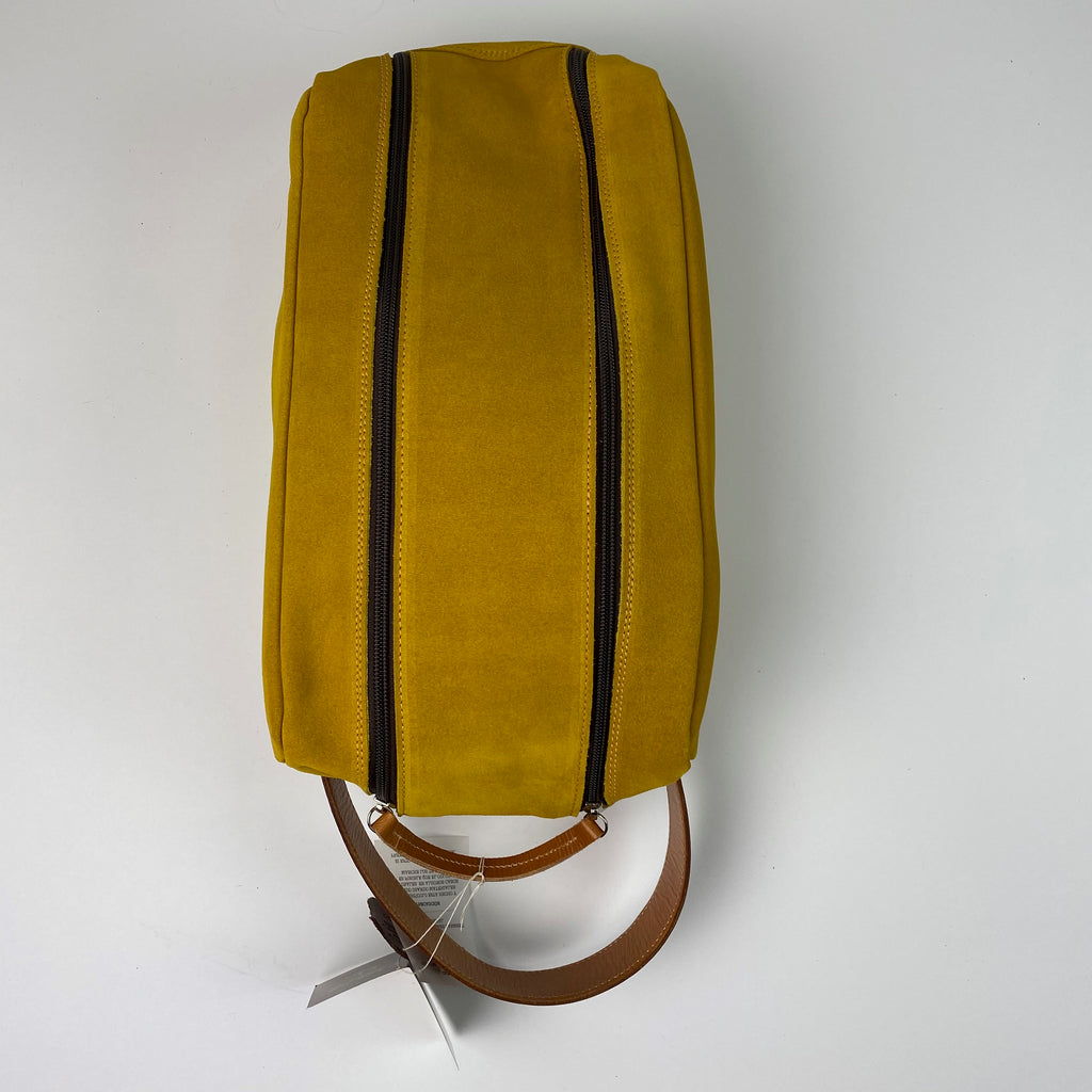Barcelona Suede Shoe Bag - Peanuts and Golf in Yellow