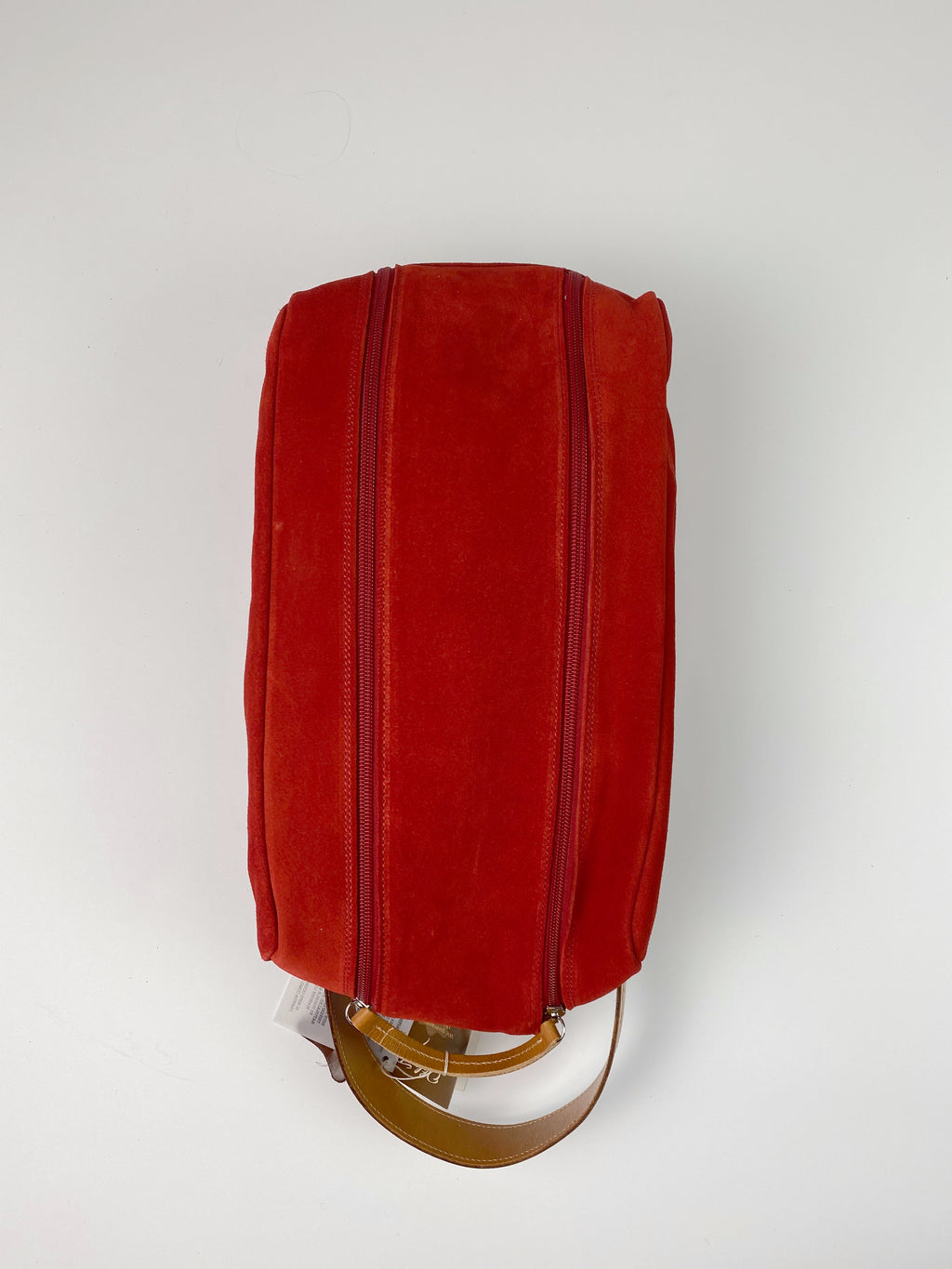 Barcelona Suede Shoe Bag - Peanuts and Golf in Red