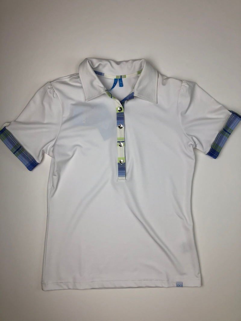GG Blue Alicia Short Sleeve Golf Polo