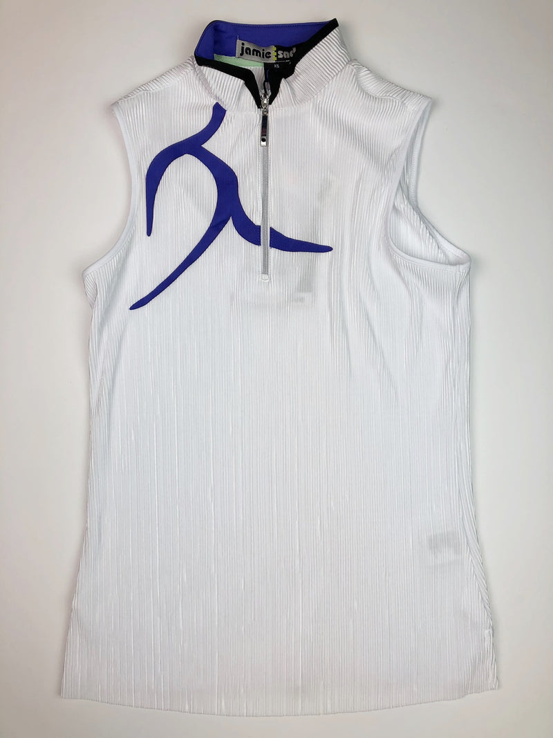 Jamie Sadock Sleeveless Crunch Shirt in Sugar #91220