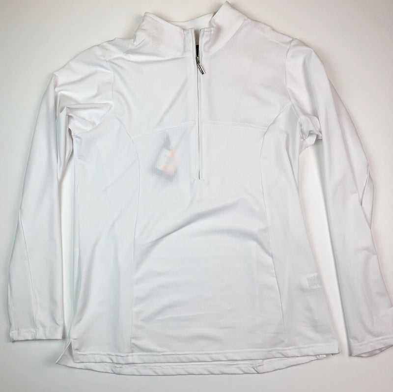 Birdee Sport Long Sleeve Polo in White