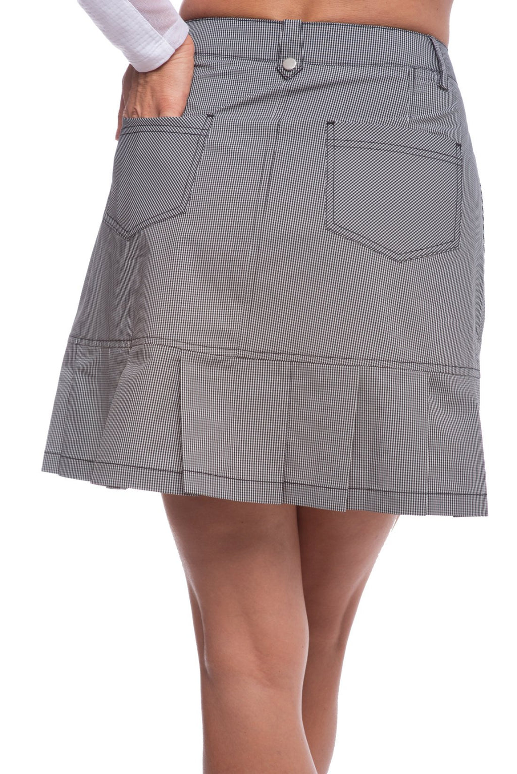 Ibkul Skort Gingham Check Black/White | UPF 50