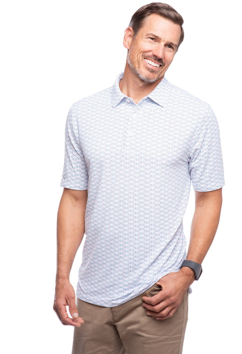 Ibkul Icifil Men's 30+Sun Protection Short Sleeve Shirt: Bicycle