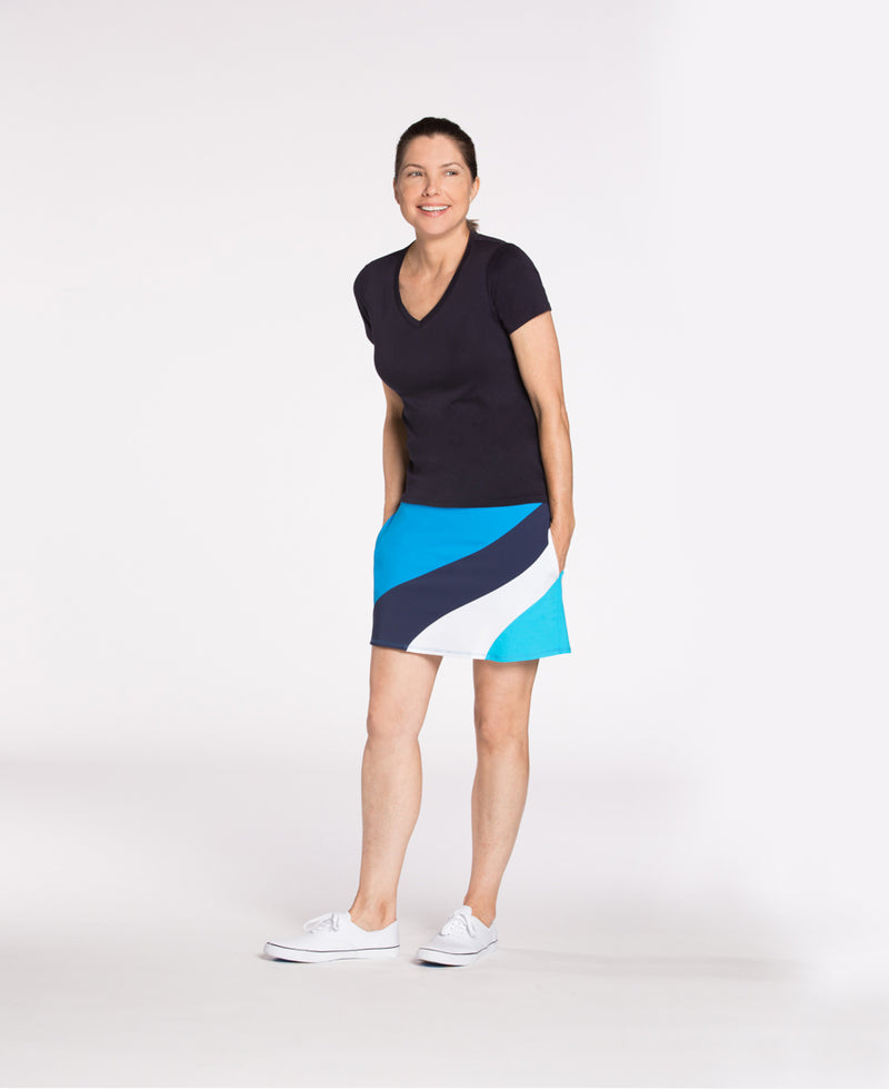 KINONA Makes Waves Print Golf Skort
