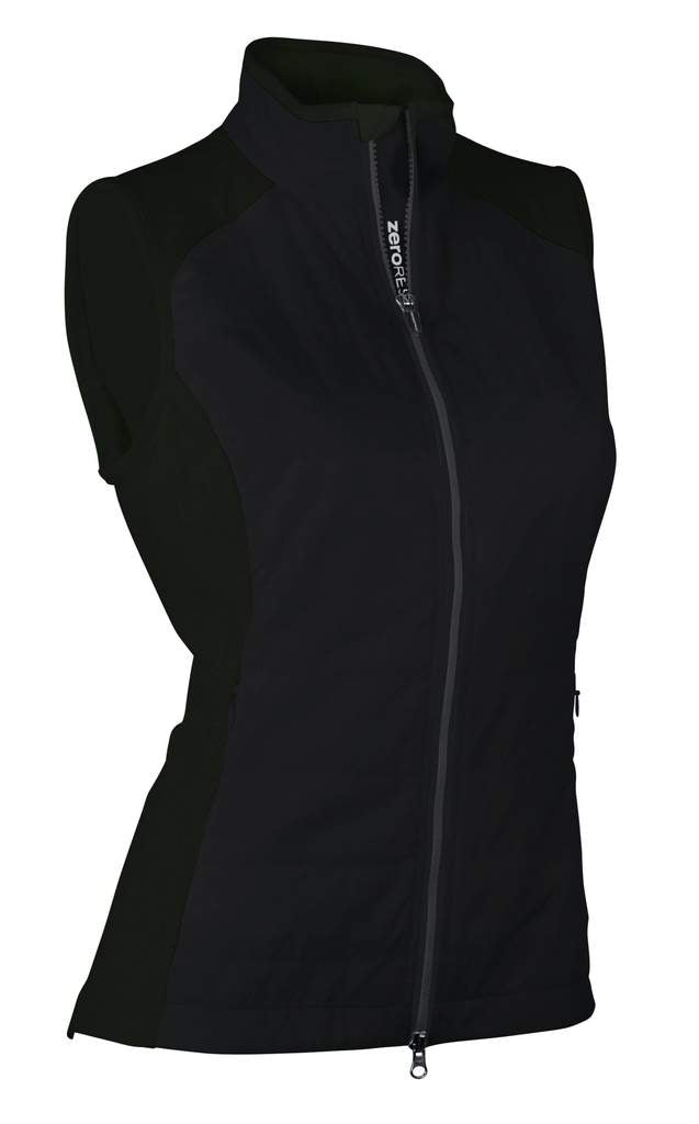 Zero Restriction Tess Vest - Black