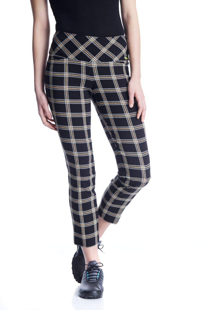 Swing Contro Gold Plaid  Masters Ankle Pants