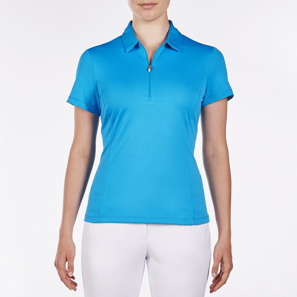 Nivo Natasha Short Sleeve Polo - Malibu Blue - SPF 40