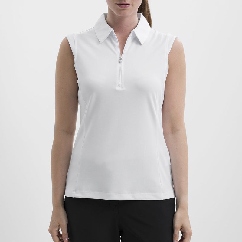 Nivo Nelly Sleeveless Polo - White - SPF 40