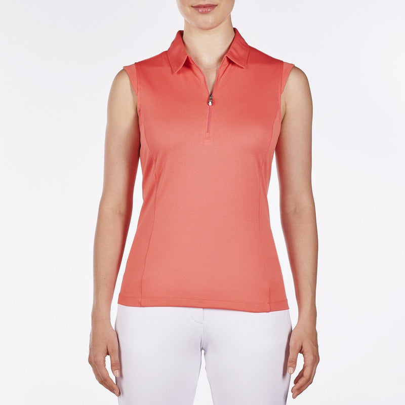 Nivo Nelly Sleeveless Polo - Sunkist Coral - SPF 40