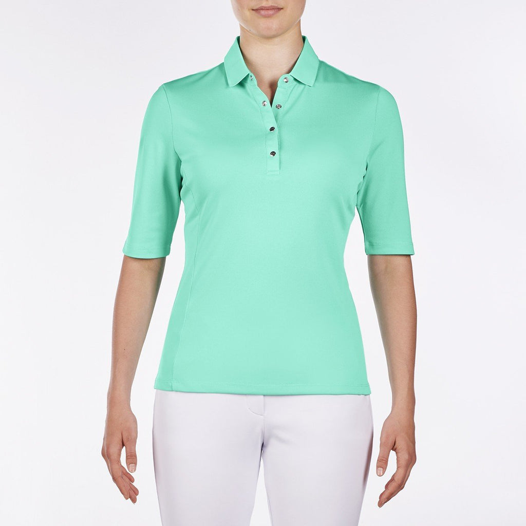Nivo Nina Elbow Sleeve Polo - Atlantis Green - SPF 50