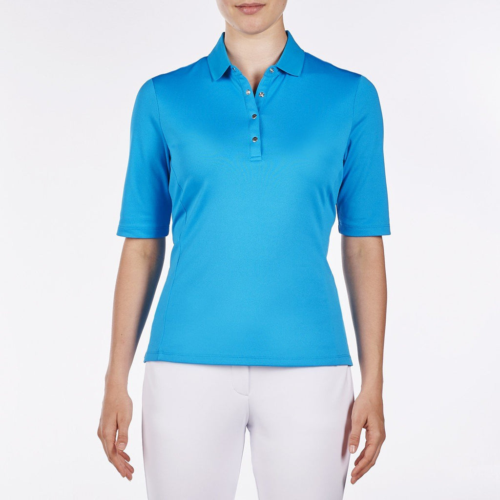 Nivo Nina Elbow Sleeve Polo - Malibu Blue - SPF 50