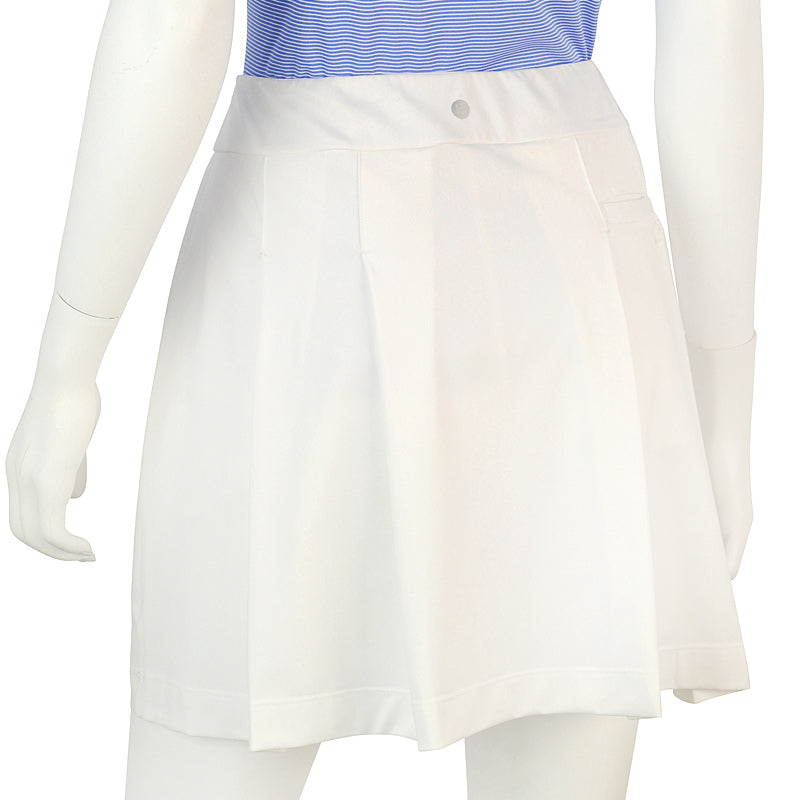 "EP NY White Pull On 17.5"" Skort with Back Pleat - SPF 50"