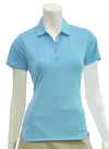 EP NY Short Sleeve Polo w/ Curved Hem - Aqua Blue