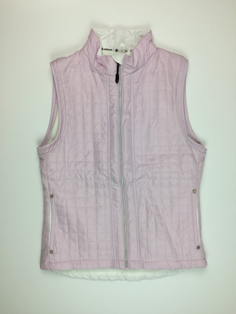 Sunice Quilted Vest - Lilac and White