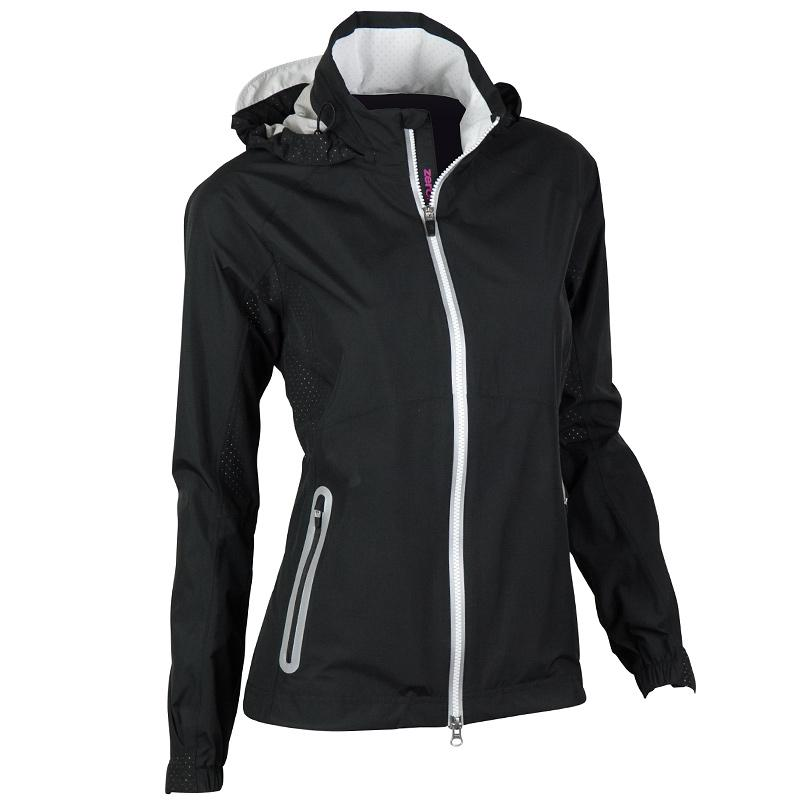 Zero Restriction Hooded Olivia Jacket - Black