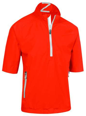 Zero Restriction Men's Jacket Power Torque 1/4 Zip Short Sleeve - Flame