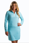 Sansoleil Long Sleeve Honeycomb Capri Mock Dress | SPF 50