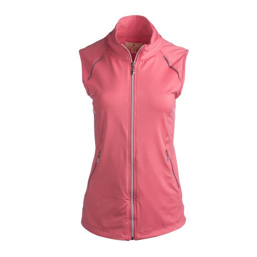 Sport Haley Sonya Full Zip Brushed Vest- Pink Grapefruit UPF 30