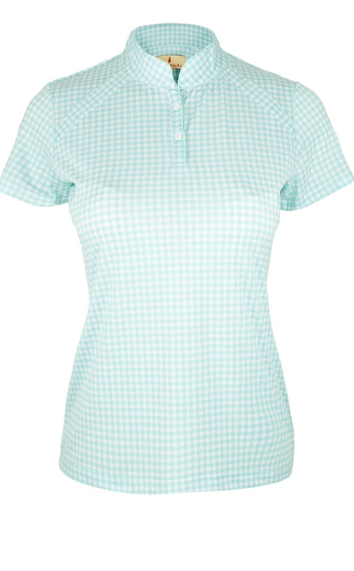 "Sport Haley Summer ""Haley Cool"" S/S Gingham Print Polo 