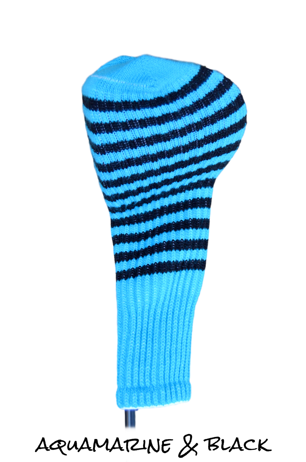 Aqua Marine and Black Club Sock Golf Headcover | Peanuts and Golf