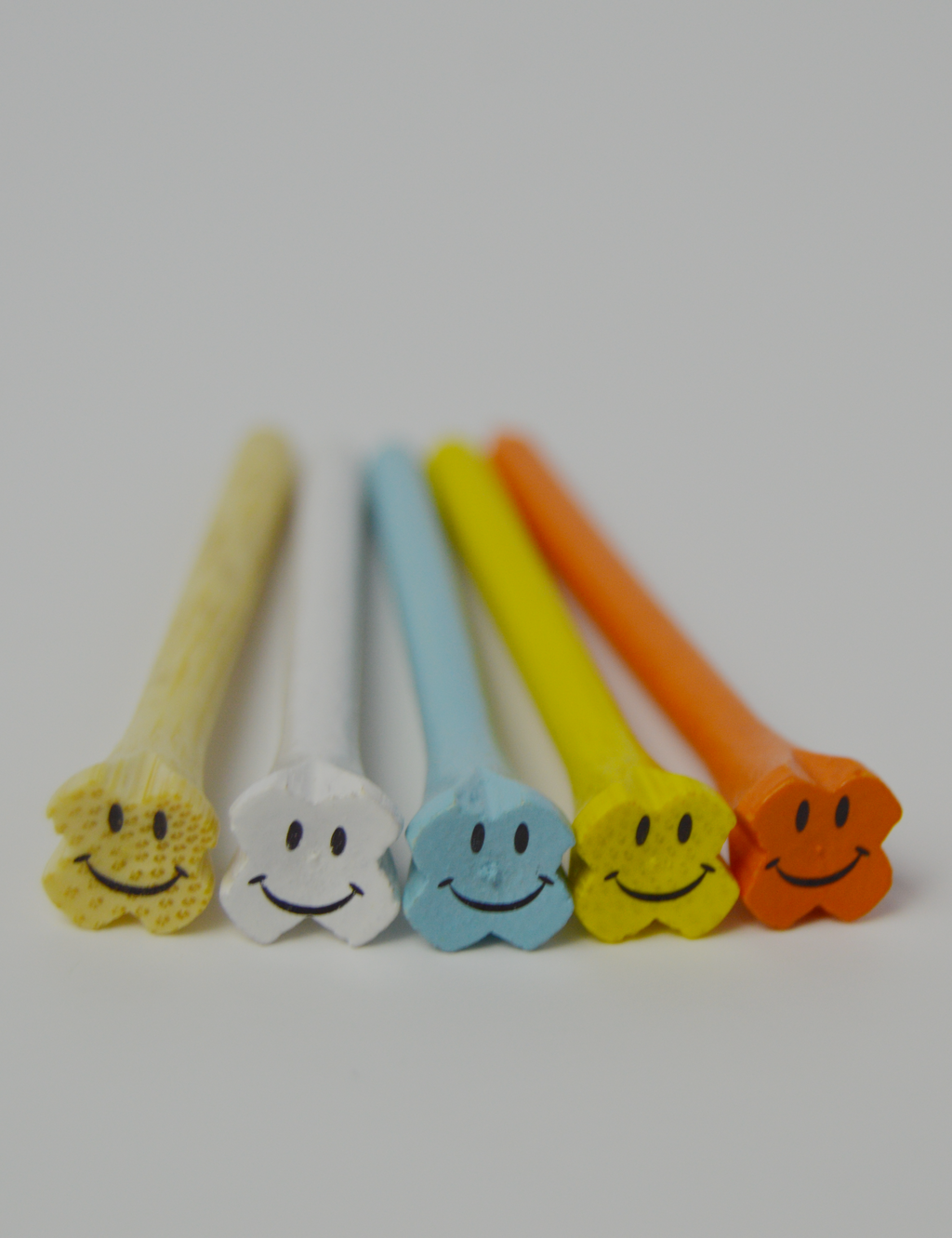 Bamboo Smiley Face Golf Tees - Pack of 15 Tees