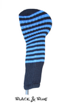 Black and Blue Club Sock Golf Headcover