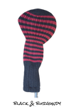 Black and Burgundy Club Sock Golf Headcover | Peanuts and Golf