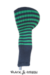 Black and Green Club Sock Golf Headcover | Peanuts and Golf