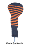 Black and Orange Club Sock Golf Headcover | Peanuts and Golf
