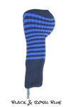 Black and Royal Blue Club Sock Golf Headcover