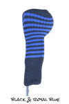 Black and Royal Blue Club Sock Golf Headcover | Peanuts and Golf