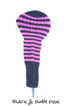 Black and Ruby Pink Club Sock Golf Headcover