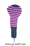 Black and Ruby Pink Club Sock Golf Headcover | Peanuts and Golf