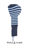 Black and Silver Club Sock Golf Headcover | Peanuts and Golf