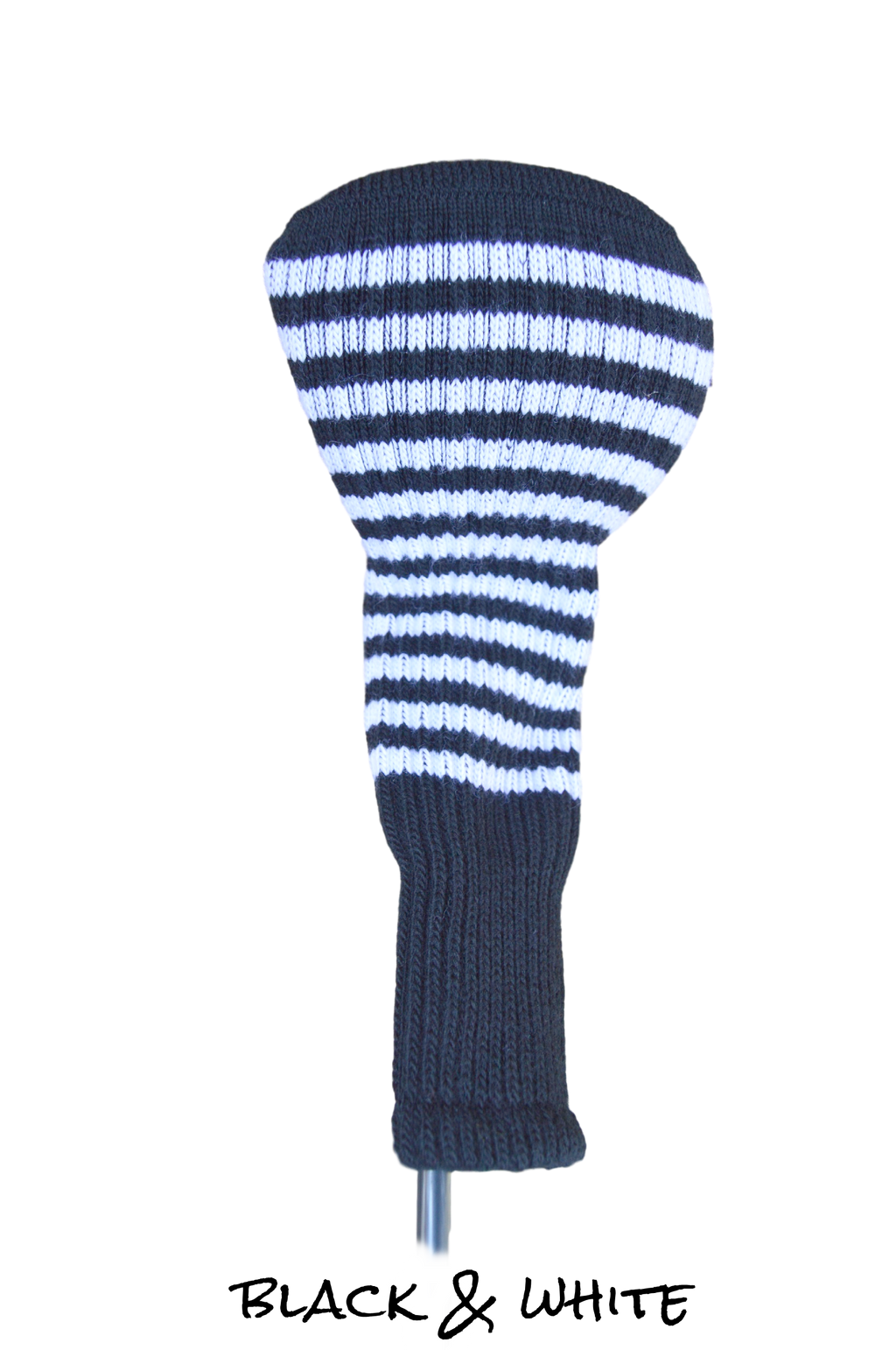 Black and White Club Sock Golf Headcover
