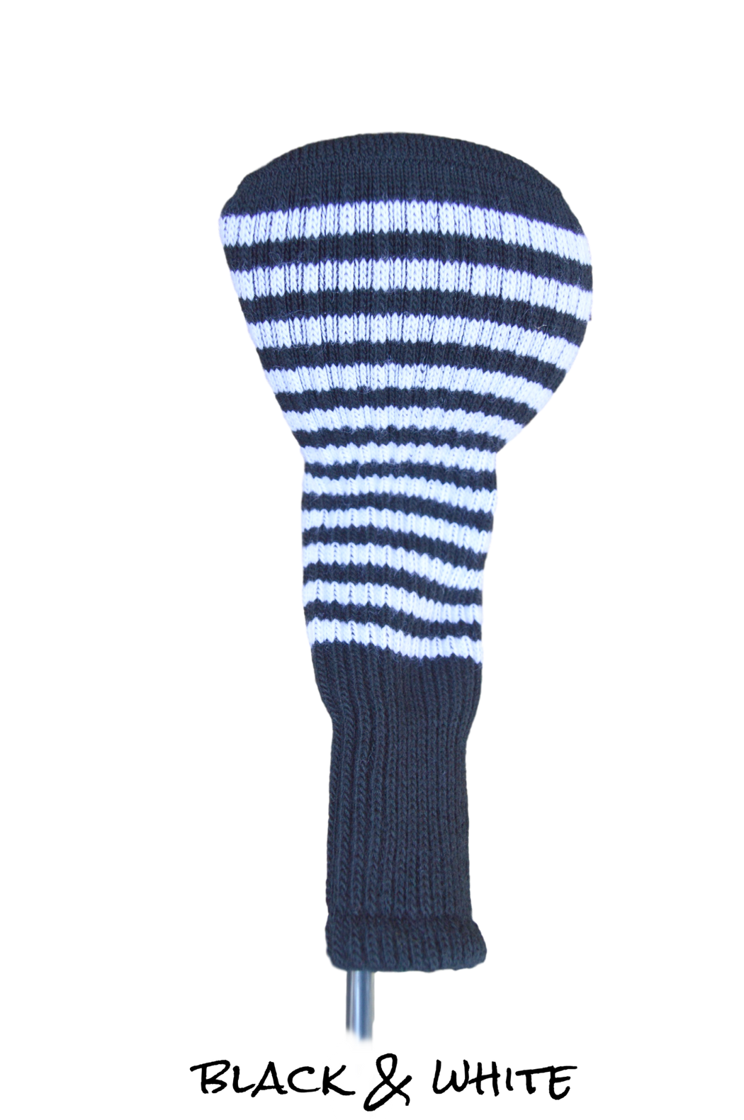 Black and White Club Sock Golf Headcover | Peanuts and Golf