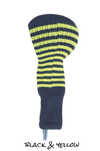 Black and Yellow Club Sock Golf Headcover