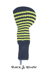 Black and Yellow Club Sock Golf Headcover | Peanuts and Golf